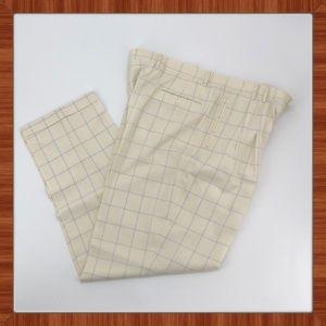 Custom Made Wool WindowPane Pattern Pants